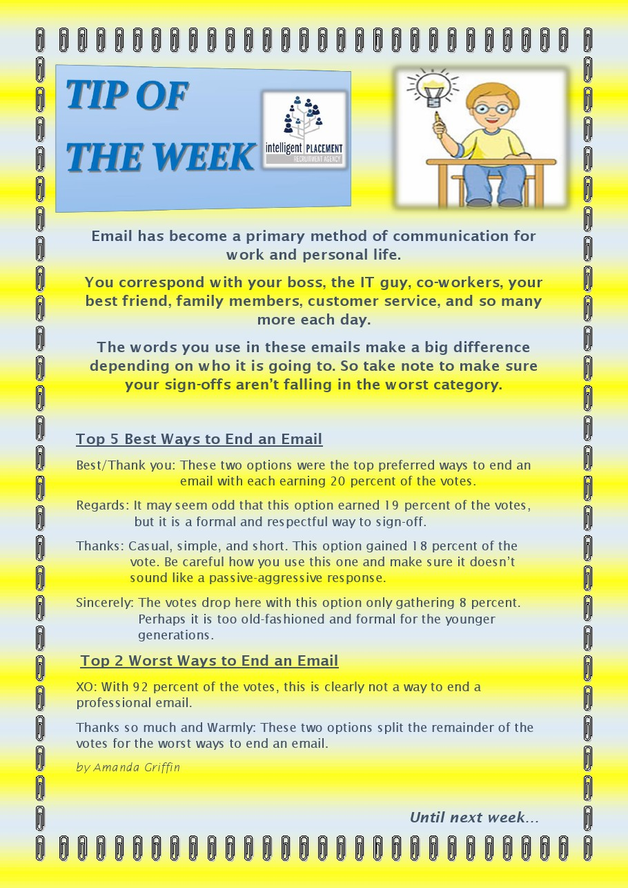 Top 5 Best Ways To End An Email